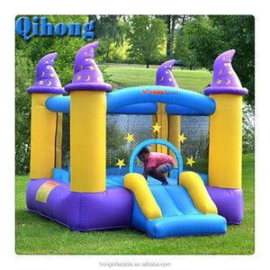 Hot sale commercial cheap pony inflatable bouncer, jumping bouncy castle with slide