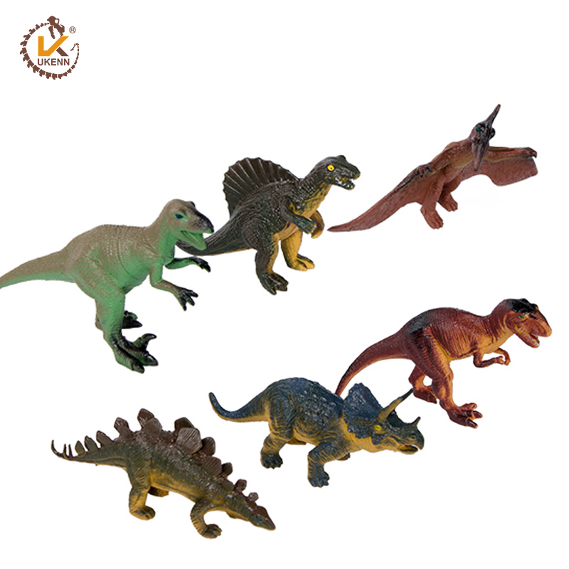 קידום מכירות פלסטיק צעצוע דינוזאור דגם פלסטיק קריקטורה בעלי החיים צעצועים