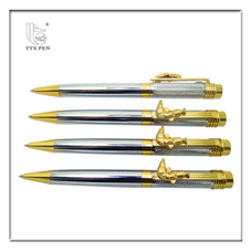 2018 china brand custom logo ball pen elegant rose gold metal pen