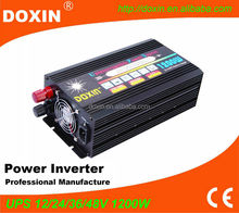 doxin power inverter 1200 watts 12v 220v with ups charger single output type off gird