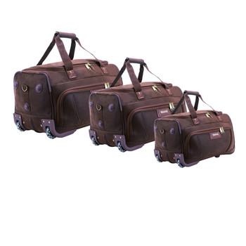 Ostrich Pattern Trolley Duffel Genuine Leather Travel Bag Faux Pu Angola Skin Roller Wheeled Weekend Holdall Voyage Duffle