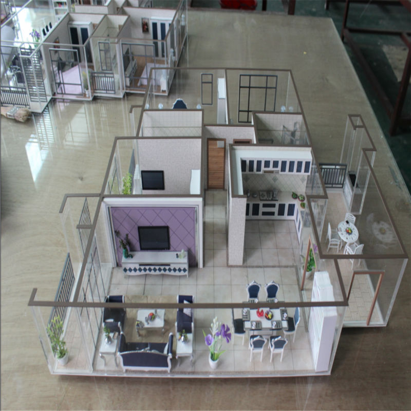 Architektur haus modell mit miniatur m bel 3d modell innenraum andere bau immobilien produkt 3d house model maker