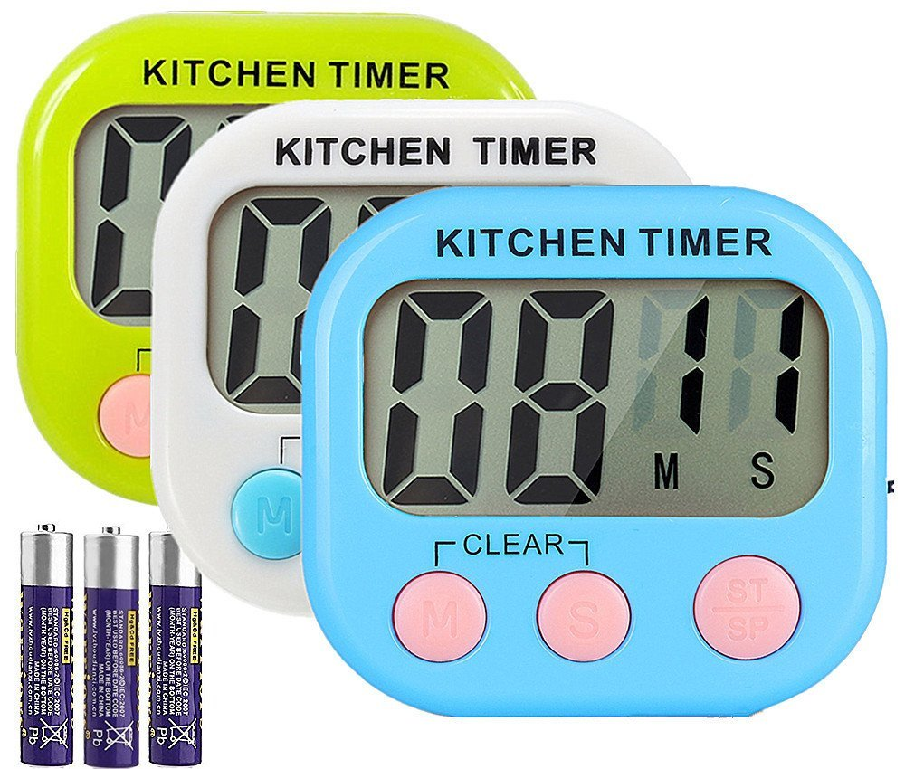 large LCD digital kitchen cooking countdown timer