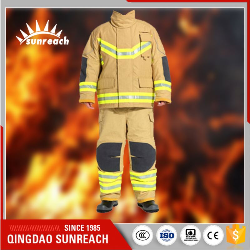 Qingdao Cotton Fabric Pvc Chemical Fire Suit