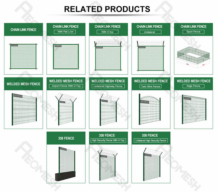 Made in Guangzhou Professional Factory Airport Fence Barbed Wire V top Galvanized Welded Wire Mesh