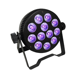 club lights effect light indoor 12 X 8W rgbw 4in1 10w 5in1 rgbwa 12w 6in1 rgbwauv led flat par can light