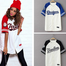 2016 Summer Hip Hop Sports Fashion Baseball T shirt Korean style Loose Unisex Mens Womens Tee Tops Tide mujeres camiseta S-3XL