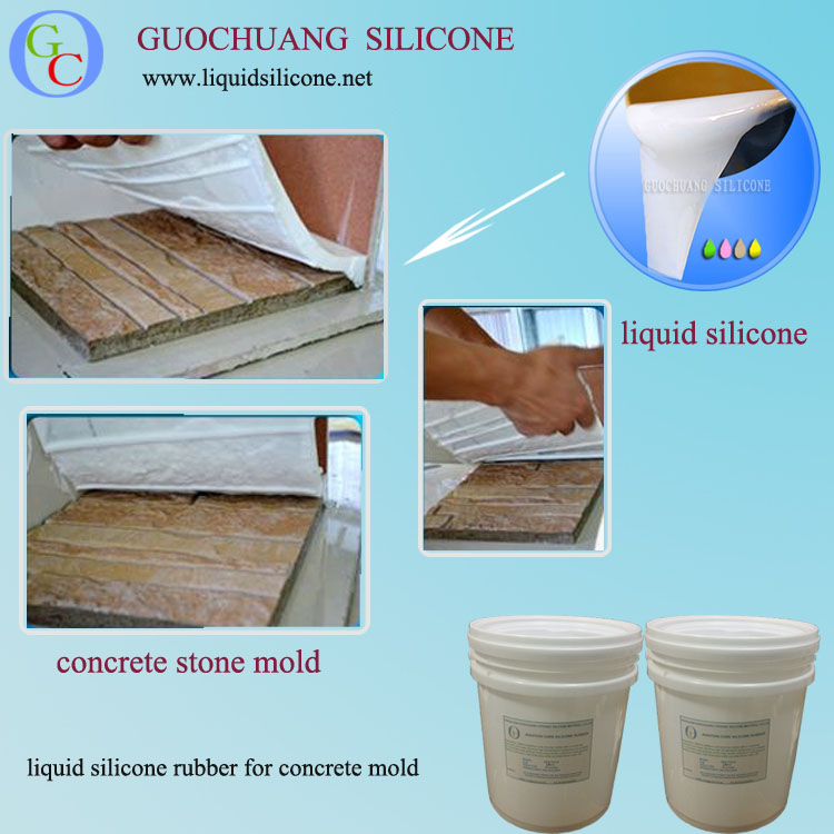 Rubber latex liquid silicone for artificial fiberglass stone mold making