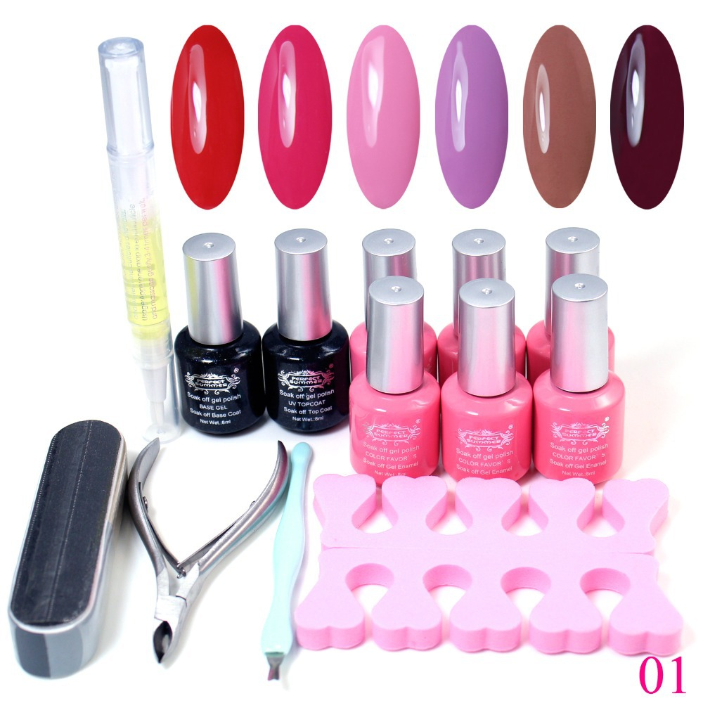 240 colors available uv gel polish set nail art soak off polish uv gel top coat base gel tools. Black Bedroom Furniture Sets. Home Design Ideas