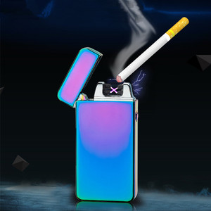 Plasma beam spark arc Tesla electric USB recharge cigarette lighter