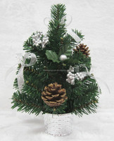 30cm Small mini pvc decorative christmas tree for wholesale