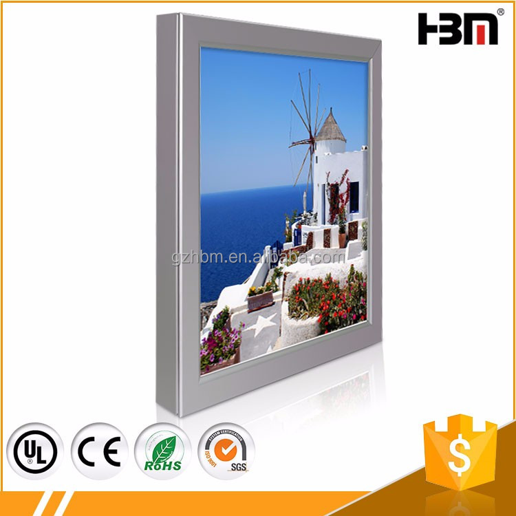 Customized Size rectangle shape snap frame led light box for led poster display