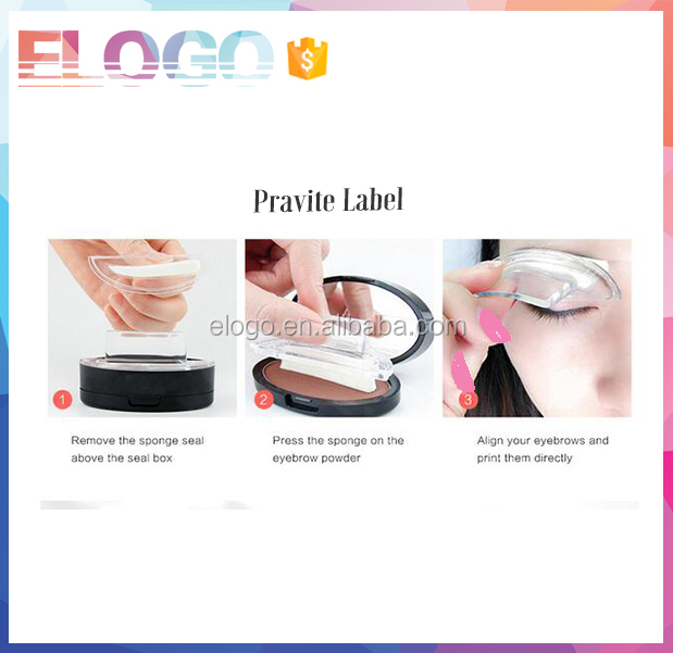 Private logo 3 Second Waterproof Brow Eyebrow Stamp Powder for Makeup Perfect Natural 3 Second Brow Eyebrow Stamp