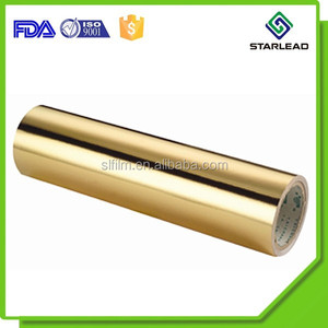 Laminated metallic gold cardboard jumbo roll/cigarette carton paperboard