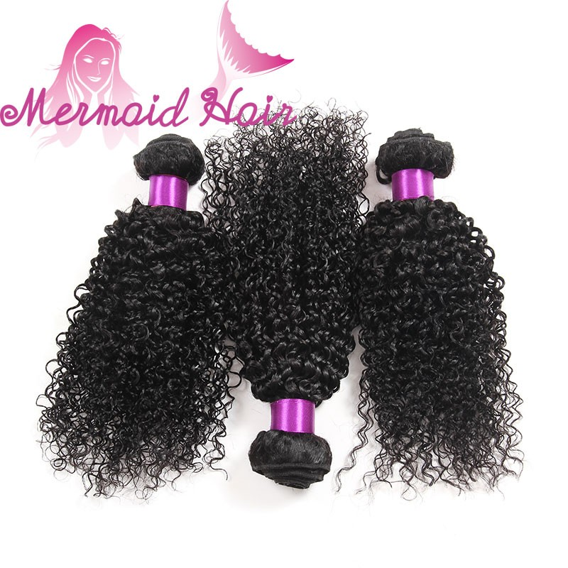 mongolian kinky curly hair high quality natural color shedding free virgin human hair bundles