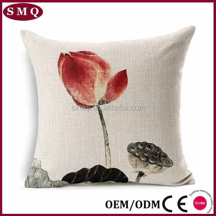Wholesale outdoor plant pattern sublimation printing cushion cover