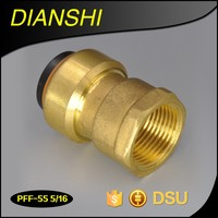 1-in dia Brass Female Adapter Lead Free Brass Push Fit Fitting