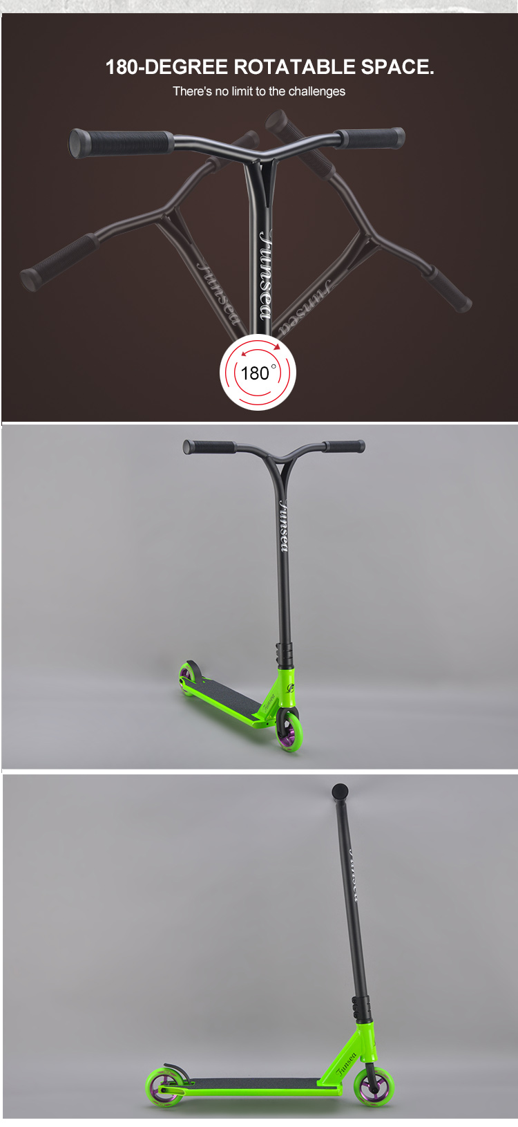 China factory extreme kids stunt bmx foot trick scooters wide folding electric wheel freestyle kick scooter adult for sale