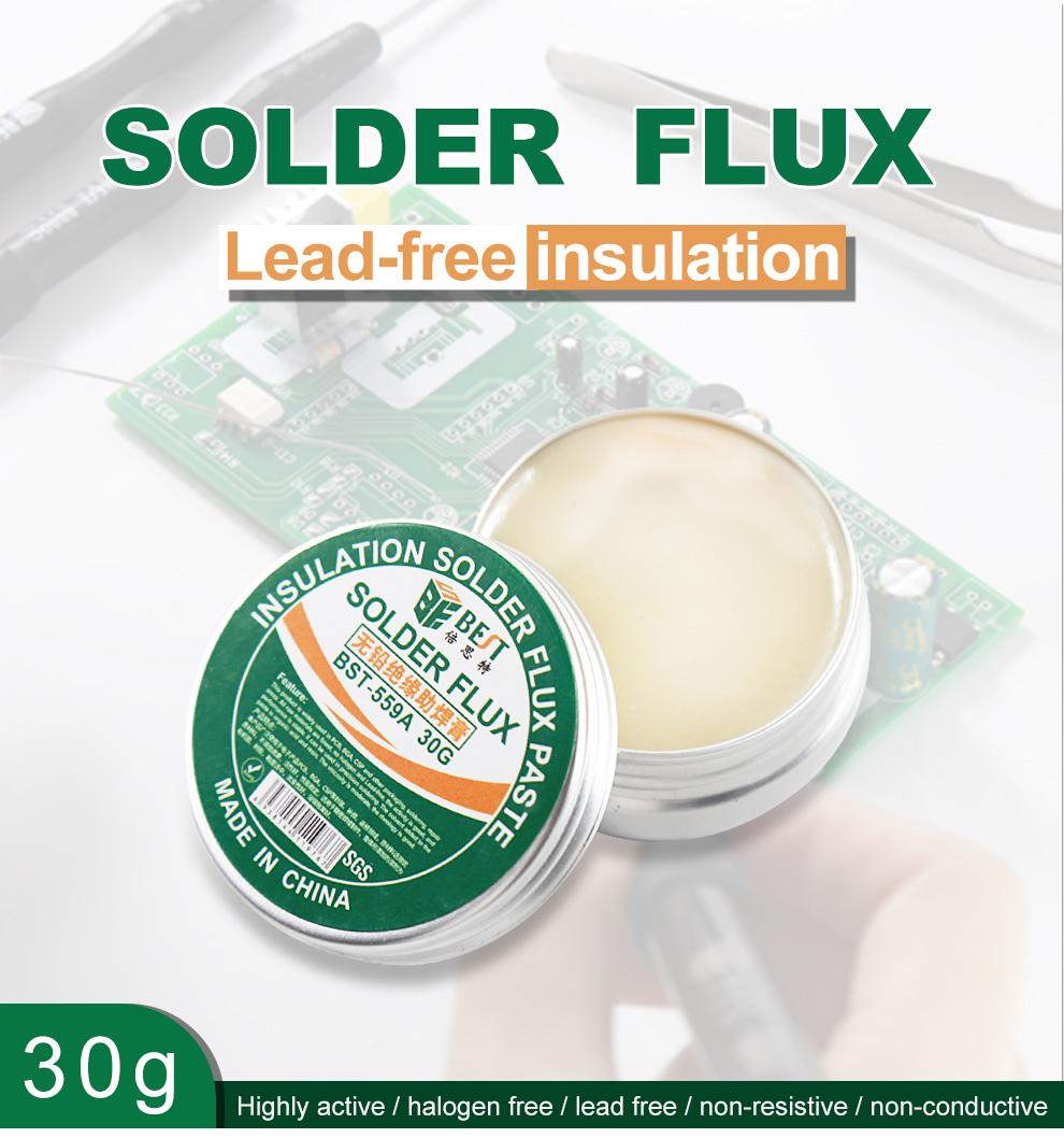 Environment Friendly Lead-free Liquid Rosin Soldering Welding Flux BEST 559A 30g Mobile Phone Soldering Paste SGS-ROHS BESTOOL