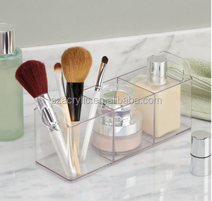 acrylic make up organizer cosmetic display case