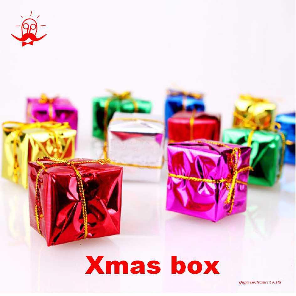 Gift Box Decoration Ideas: 12pcs Small Christmas Decoration Gift Box 2.5cm*2.5cm*2