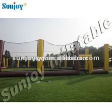 2016 hot sale popular big inflatable game paintball arena field nets