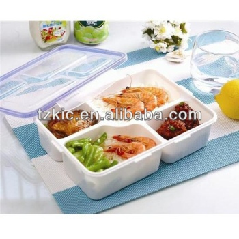 Lunch Boxes multi Colors Divided Food Storage Containers With Lid