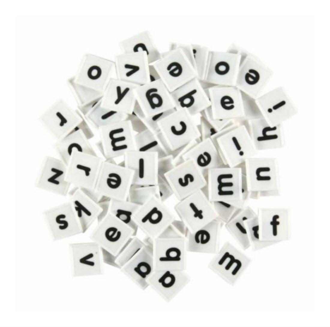 176 Plastic Letter Tiles Spelling Manipulative Gift for Loved Ones