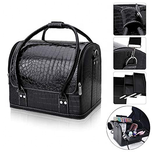 Professionele Black Beauty Make Up Case Nail Cosmetische Box Vanity Case