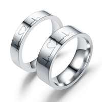 Hot sale lovers rings stainless steel for anniversary gift decoration