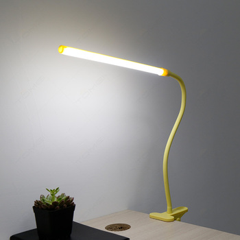 Clip Led Table Lamp Rechargeable Desk With Usb Charger Light