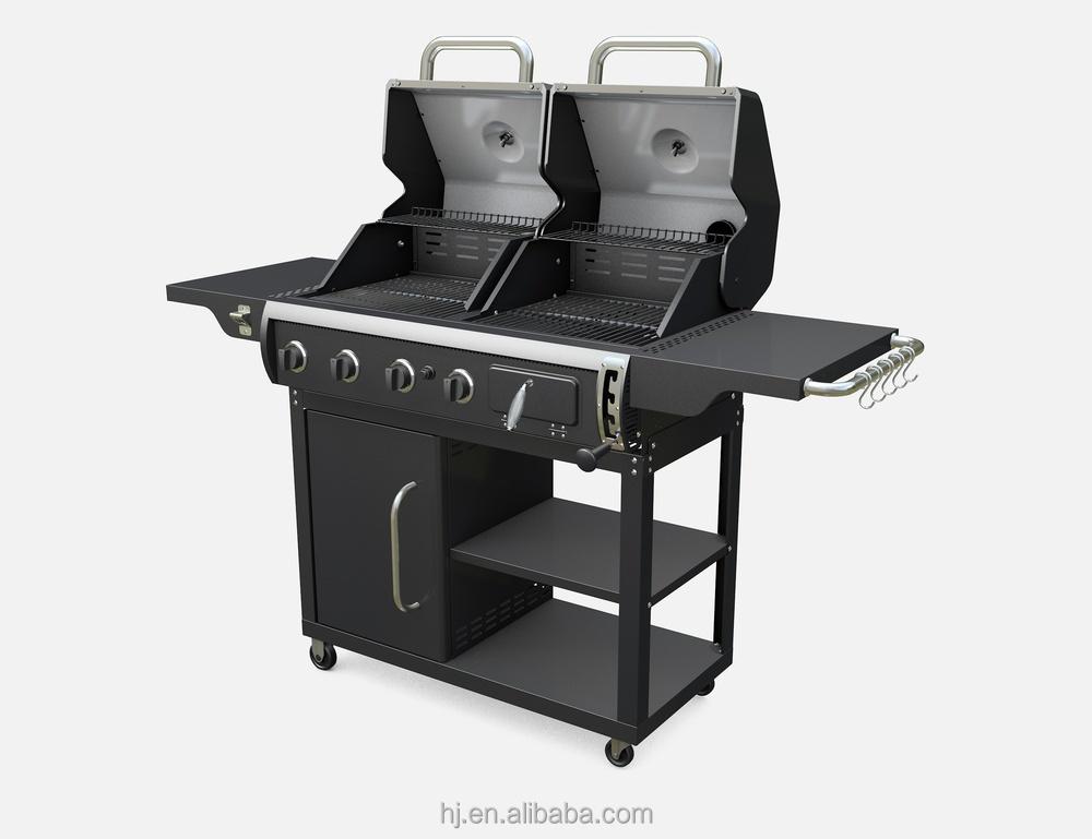 gaz et combinaison de charbon de bois grill grille de barbecue id de produit 60121022198 french. Black Bedroom Furniture Sets. Home Design Ideas