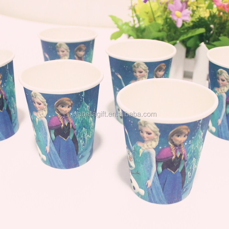 Wholesale colorful party drinking paper cup, paper cup for kids theme party supply