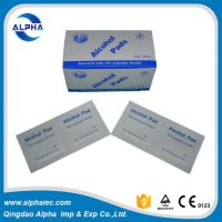 disinfection medical alcohol disinfection cotton pad swabs with CE ISO approved