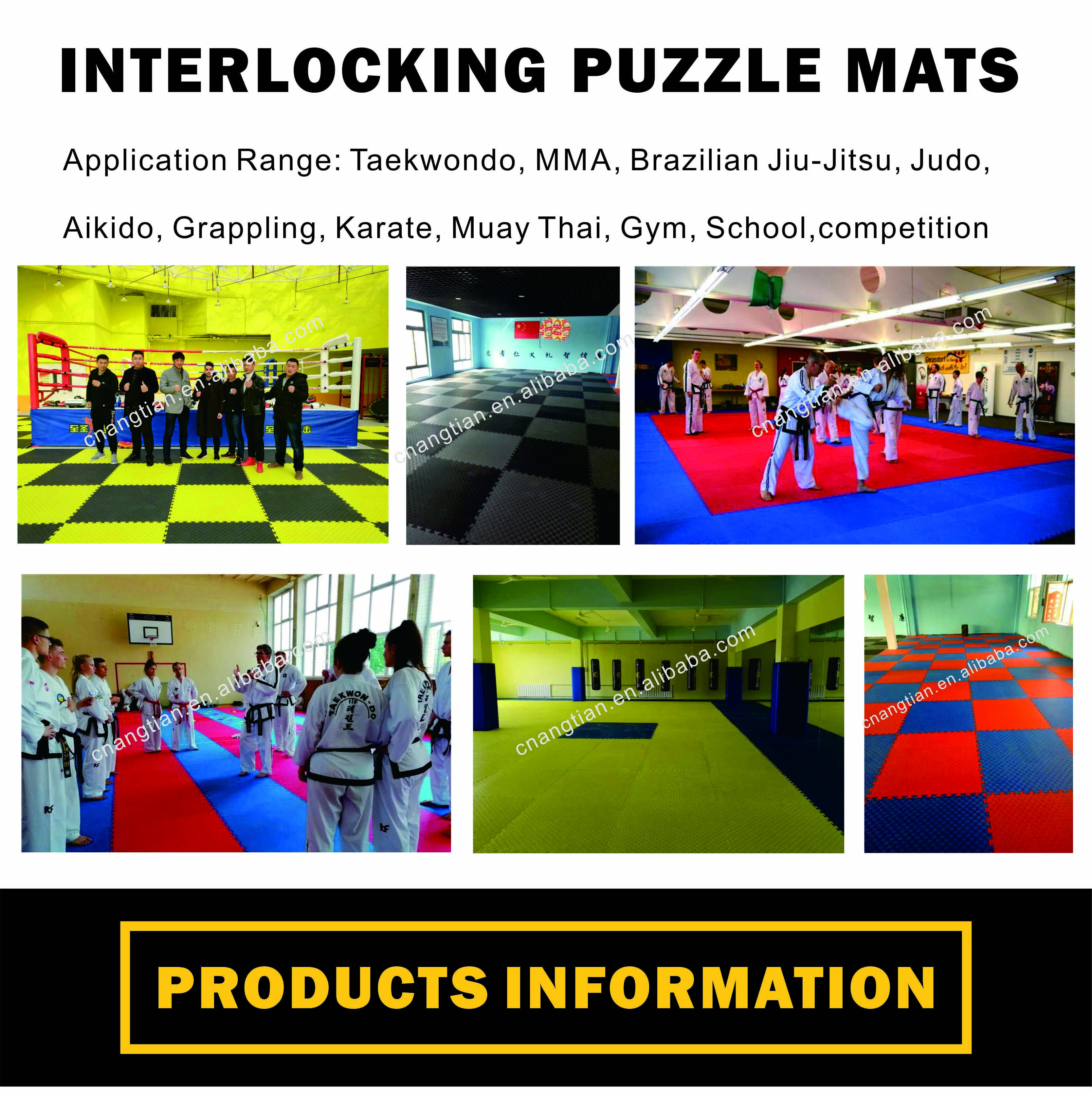 angtian-sports high quality custom wholesale puzzle piece foam mats taekwondo carpets tatami gi