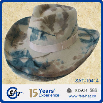 17010cc712a Men s 100% Wool Felt Camo Western Cowboy Hat For Hunting - Buy ...