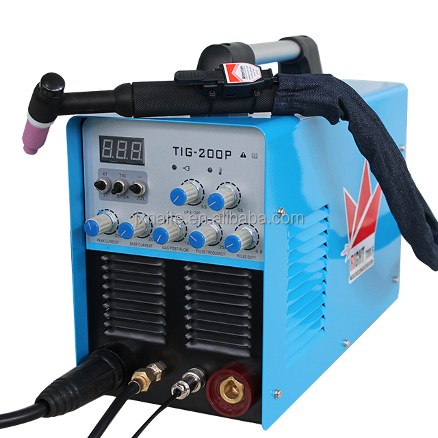 IGBT Inverter DC TIG-200P Stainess Steel Argon Copper Welding Machine