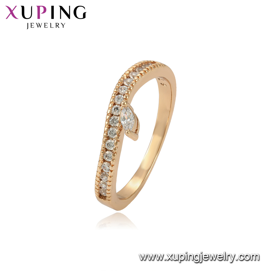 15299 xuping shopping online top grade delicate 18k gold plated 2 gram ring