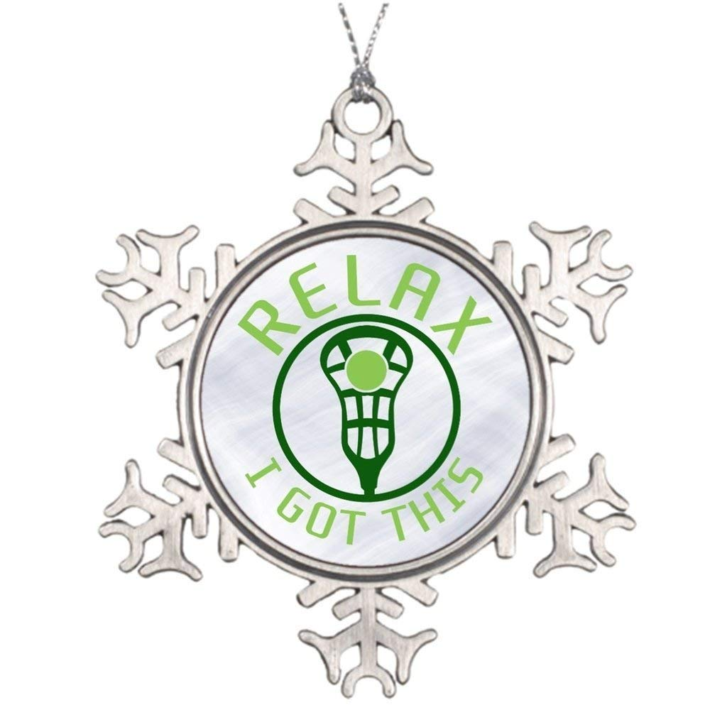 Sedlockyvq Xmas Trees Decorated Lacrosse Relax I Got This Lacrosse Christmas Snowflake Ornaments Christmas