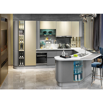 Modern Design Champagne Color Lacquer High End Kitchen Cabinets Buy Modern Design Kitchen Cabinets Champagne Color Lacquer Kitchen Cabinets High End
