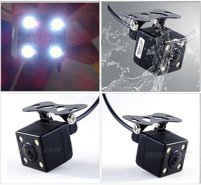 170 град. универсальный водонепроницаемый HD CCD 4 из светодиодов ночного видения автомобильная камера заднего вида помощи при парковке