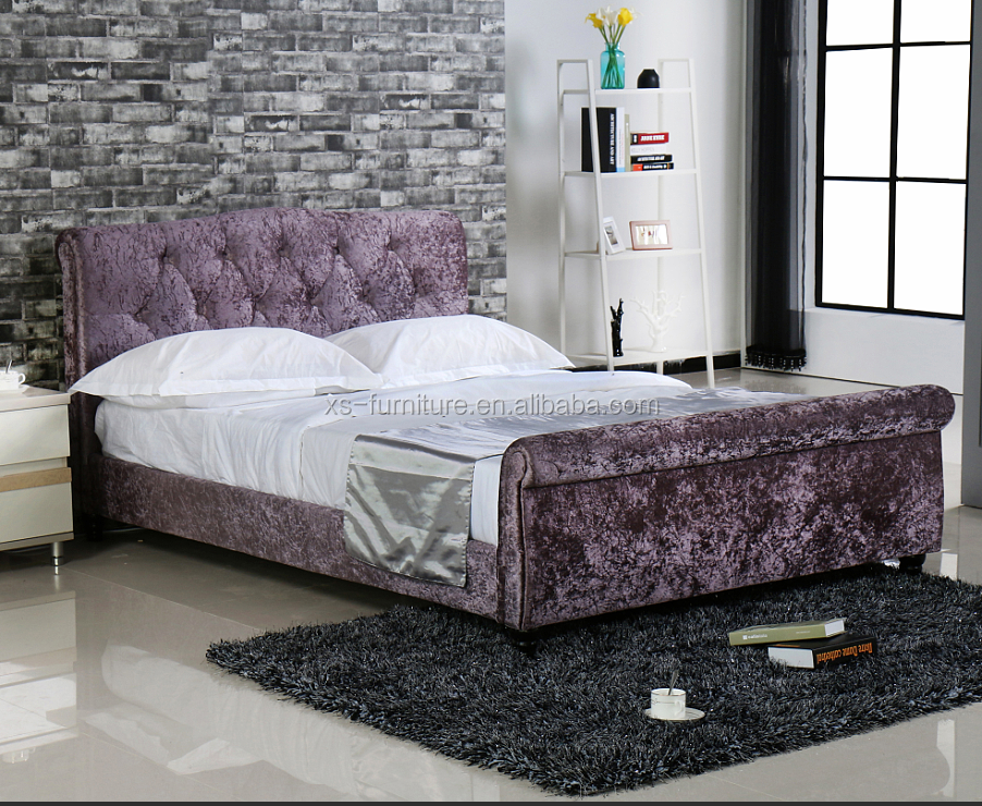 Crushed Velvet Bed, Crushed Velvet Bed Suppliers and Manufacturers ...