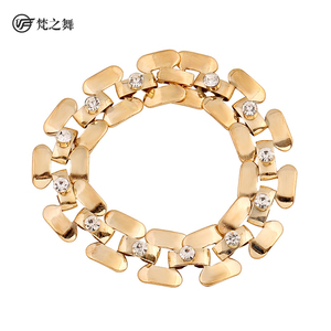 P-9092 Fashion design gold rhinestone belly dance bangle for girls