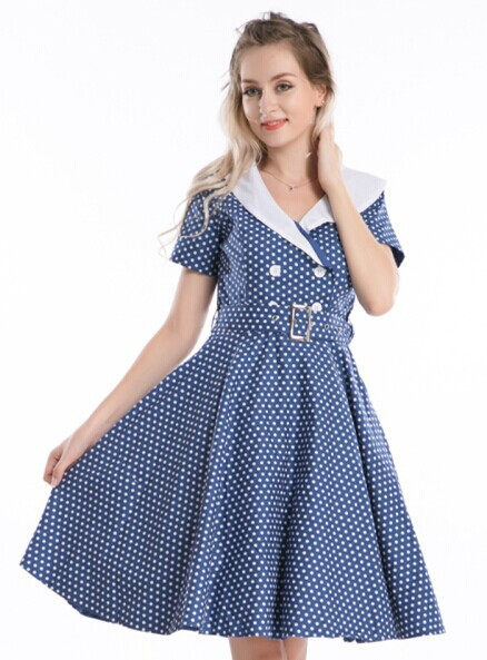 Get Quotations · free shipping New 50s Swing polka dot Retro 40s Rockabilly  Pinup Evening Jive Dress rockabilly dress 4d9da5eb503f