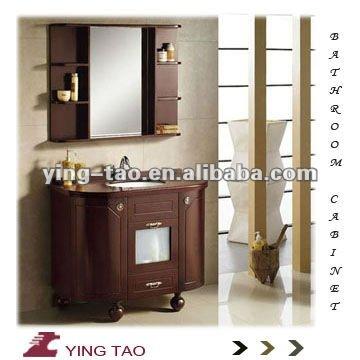 Europa dise o color ba o piso montado madera maciza ba o for Muebles bano madera modernos