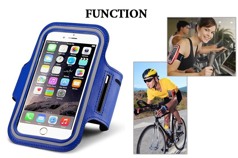 Personalized Soft Armband Leather Case For 5.5 Inch Tablet Fitness Adjustable Armband