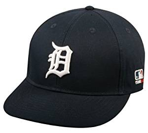 Detroit Tigers Cap ADULT (New CF2 Visor Curved or Flat) Adjustable Hat MLB Officially Licensed Major League Baseball Replica