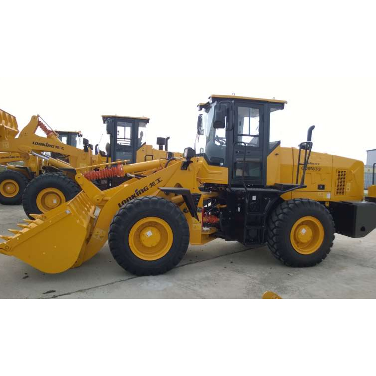Wheel Loader Lonking LG833N with Weichai Engine for hot sale in Russia loaders price