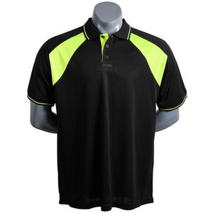 Mens 100 Polyester Black Man Polo T Shirt