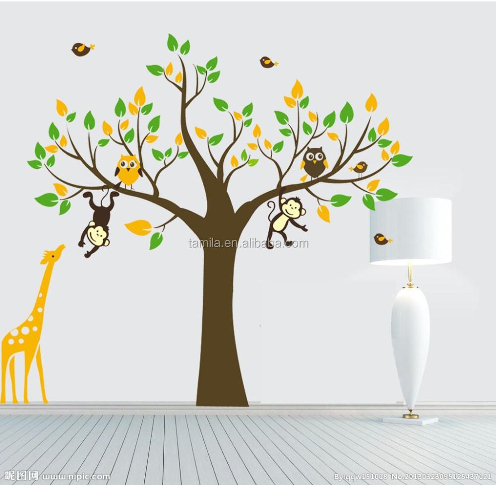 Monkey Tree Giraffe Vinyl Wall Stickers Kids Baby Children Decor Home Wall  Paper Decal Deco Art Sticker   Buy Islamic Wall Art Stickers,Printable Wall  Decal ... Part 76